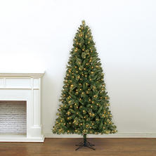 7' Member's Mark Artificial Pre-Lit LED Baytown Spruce Quick Set Simple Shape Quick Fold Christmas Tree