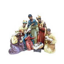 Member's Mark Hand-Painted Nativity Scene-Multi-Cultural
