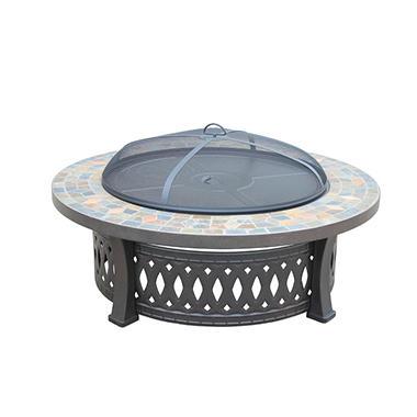 Round Slate Fire Pit Table, 44u0027u0027