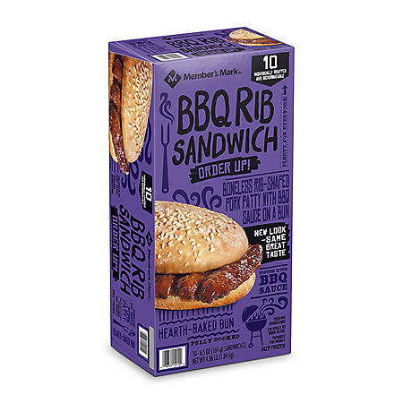 Member's Mark BBQ Rib Sandwich (10 ct.)