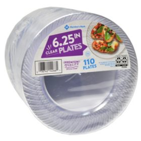 Member S Mark Clear Plastic Plates