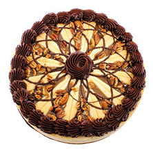 "Creamy Filled 9"" Turtle Cheesecake (serves 12)"