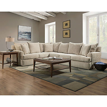 Member's Mark Olympia L-Shaped Upholstered Sectional (Assorted Options)