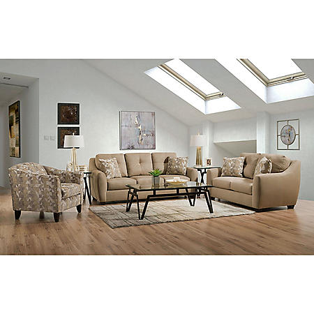 Member's Mark Talbot Sofa, Loveseat, and Accent Chair Set