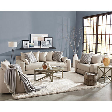 Member S Mark 3 Piece Living Room Set Gable Sofa Chair And