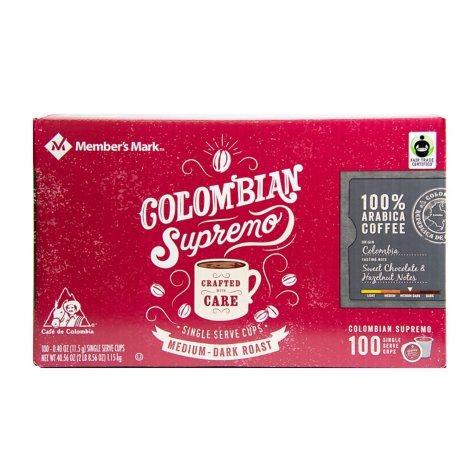 Member's Mark Colombian Supremo Coffee, Single-Serve Cups (100 ct.)