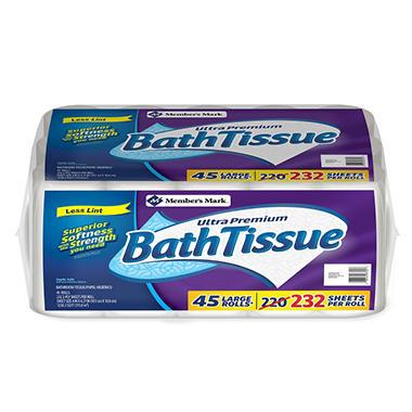 Best Seller Member s Mark Ultra Premium Bath Tissue  2 ply  232 sheets  45  rolls. Toilet Paper  Bath Tissue   Sam s Club