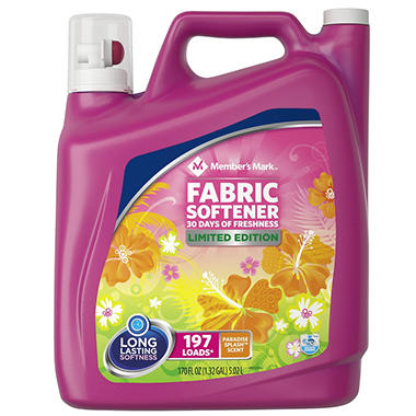 Member's Mark Liquid Fabric Softener, Paradise Splash Scent (170 oz.)