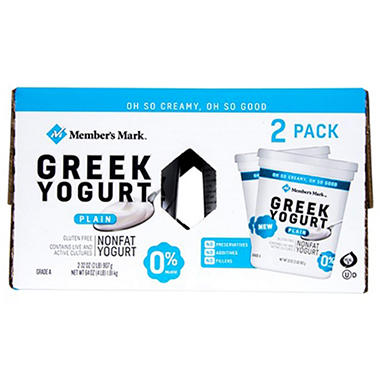 Member's Mark Plain Greek Nonfat Yogurt (32 oz., 2 pk.)