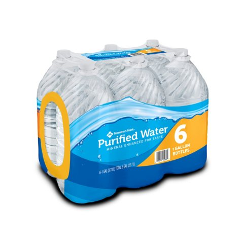 Member's Mark Purified Water (1 gal., 6 pk.)