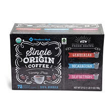 Member's Mark Single Origin Coffee Variety Pack (72 ct.)