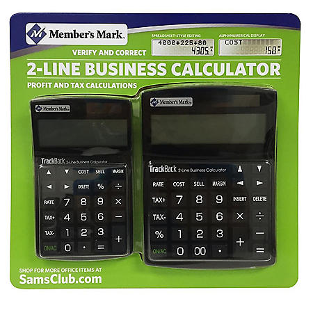 Member's Mark TrackBack 2-Line Business Calculator Combo