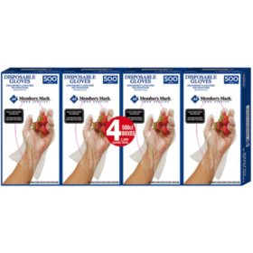 Member's Mark Plastic Disposable Gloves (2,000 ct.)
