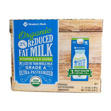 Member's Mark Organic 2% Milk (1/2 gal., 3 ct.)