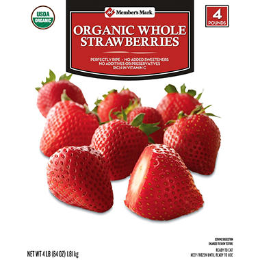 Member's Mark Organic Whole Strawberries (4 lb.)