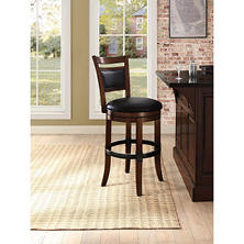 Nolan Adjustable-Height Swivel Bar Stool