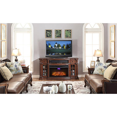 console tv fireplace center with watch hqdefault stand youtube electric media