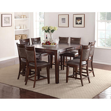 audrey counter-height table and chairs, 9-piece dining set - sam's
