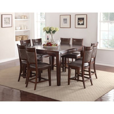 Audrey Counter Height Table and Chairs 9 Piece Dining Set Sams
