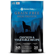 Member's Mark Grain-Free Chicken & Vegetable Recipe Dry Dog Food (28 lb.)