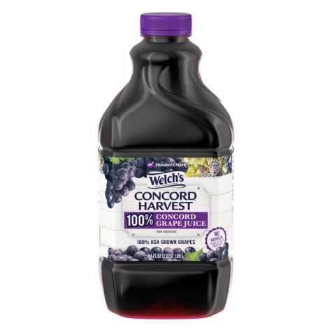 Member's Mark 100% Concord Grape Juice (64 oz., 2 pk.)