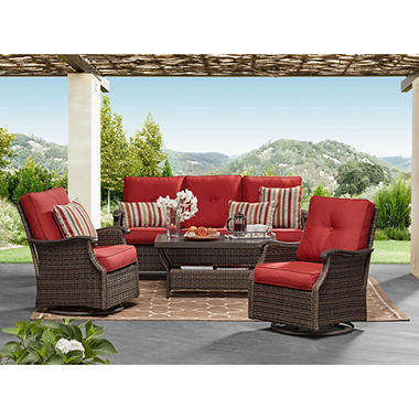Member S Mark Agio Stockton Seating Set Berry Sam S Club