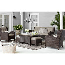Members Mark Agio Collection Heritage Sunbrella Seating Set