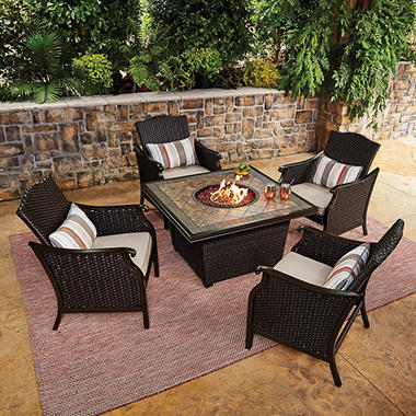 Member S Mark Agio Collection Heritage Fire Chat Set Sam