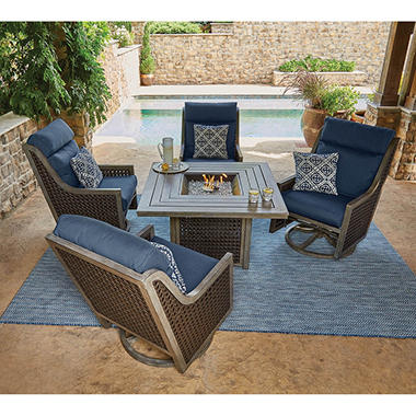 Member S Mark Crawford Sunbrella Fire Chat Set Sam S Club