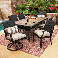 Samu0027s Exclusive Members Mark Agio Collection Heritage Dining Set
