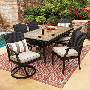 Members Mark Agio Collection Heritage Dining Set Sams Exclusive