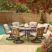 Members Mark Millers Creek Round Sunbrella Dining Set