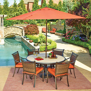 Members Mark Portico Sunbrella Dining Set Sams Exclusive