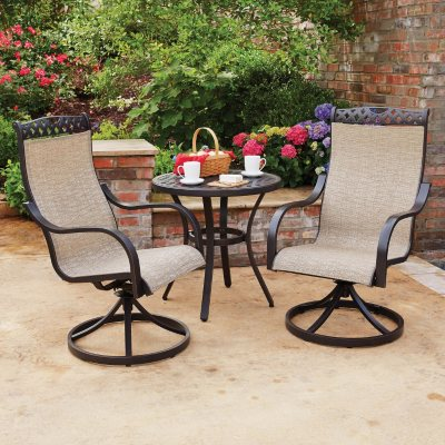 Milleru0027s Creek 3-Piece Cast Sling Bistro Set & Outdoor Furniture Sets for the Patio - Samu0027s Club