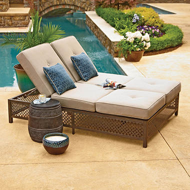 samu0027s exclusive mark carmen double chaise lounger with geobella fabric