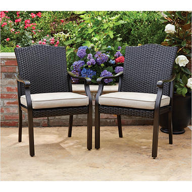 Memberu0027s Mark Agio Collection Heritage Sunbrella Dining Chairs (2 Pack)
