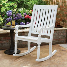 Member's Mark Painted Wood Porch Rocker (White)