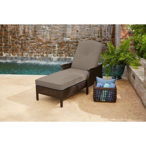Member's Mark Agio Heritage Sunbrella Cushioned Chaise Lounge