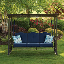 Member's Mark Crowley Gazebo Swing, Indigo
