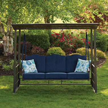 Member S Mark Crowley Gazebo Swing Indigo Sam S Club