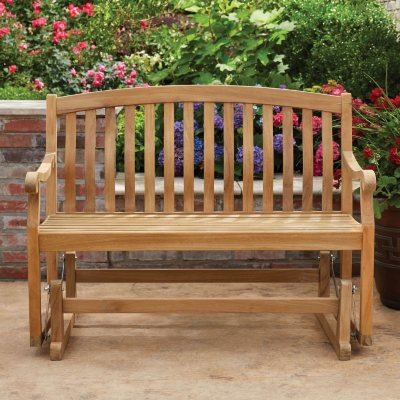 Memberu0027s Mark Glider Bench In Teak
