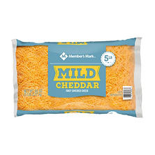 Member's Mark Mild Cheddar Fancy Shredded Cheese (5 lbs.)