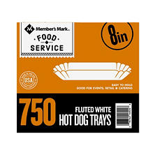 "Member's Mark 8"" Fluted Hot Dog Tray (750 ct.)"