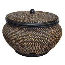 "Member's Mark 22"" Basket Hose Pot with Lid, Wicker Finish"