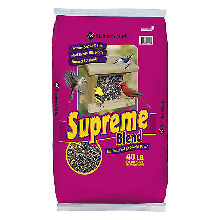Member's Mark Supreme Blend Wild Bird Food, 40 lbs.