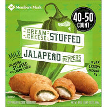 Member's Mark Breaded Cream Cheese Stuffed Jalapeño Peppers (40-50 ct.)