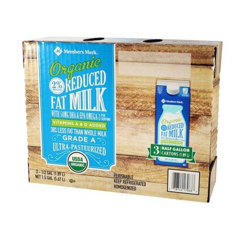 Member's Mark Organic 2% Reduced Fat Milk (3 pk., 1/2 gal.)