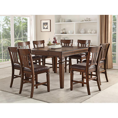 Members Mark Carter 9 Piece Counter Height Dining Set