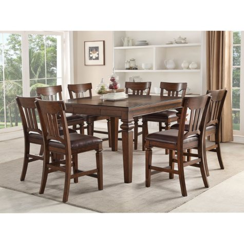 Member's Mark Carter 9-Piece Counter-Height Dining Set
