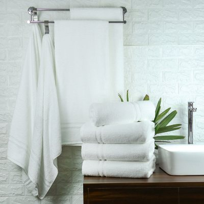 Members Mark Commercial Hospitality Bath Towels White Set of 8